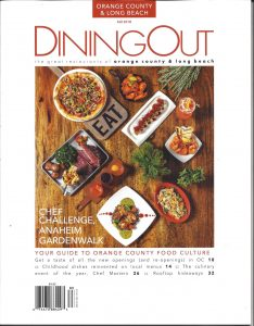 Dining Out Magazine front cover
