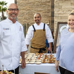 Chef Lassahn And His Team Cooking For Chef Masters Benefiting Alzheimer's Family Center