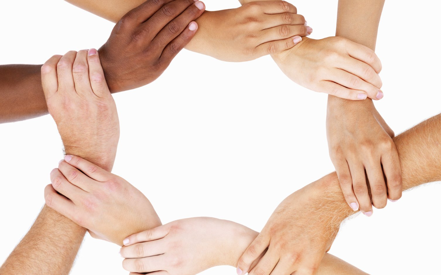 Diverse Hands Linked In Unity